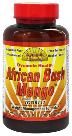Dynamic Health - African Bush Mango with Irvingia Weight Management Formula - 60 Vegetarian Capsules