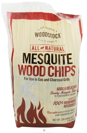 DROPPED: Woodstock Farms - All-Natural Mesquite Wood Chips - 2.94 Liter(s) CLEARANCE PRICED