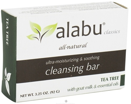 DROPPED: Alabu - Ultra-Moisturizing and Soothing Goat's Milk Cleansing Bar Tea Tree - 3.25 oz.