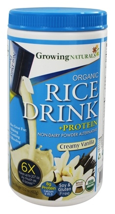 DROPPED: Growing Naturals - Rice Milk Powder Creamy Vanilla - 15.2 oz.