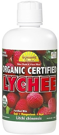 DROPPED: Dynamic Health - Lychee Juice Blend Organic Certified - 33.8 oz. CLEARANCE PRICED