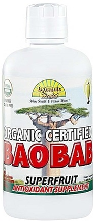 DROPPED: Dynamic Health - Baobab Superfruit Juice Blend Antioxidant Supplement Organic Certified - 33.8 oz. CLEARANCE PRICED