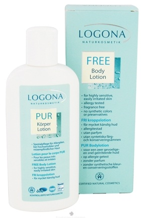 DROPPED: Logona - Body Lotion Fragrance Free - 6.8 oz. CLEARANCE PRICED