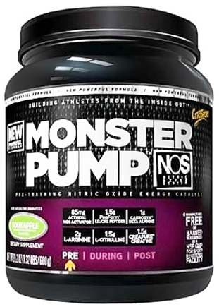 DROPPED: Cytosport - Monster Pump Pre-Training Nitric Oxide Energy Catalyst Sour Apple - 16.1 oz. CLEARANCE PRICED