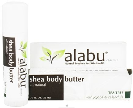 DROPPED: Alabu - Shea Body Butter Tea Tree - 0.75 oz. CLEARANCE PRICED