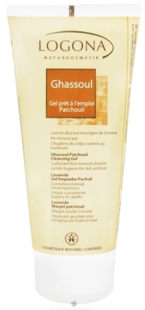 DROPPED: Logona - Cleansing Gel Ghassoul Surfactant-Free Patchouli - 6.8 oz.