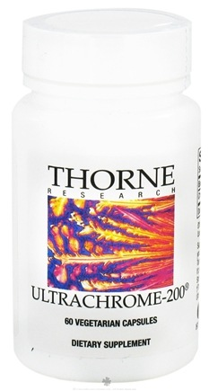 DROPPED: Thorne Research - UltraChrome 200 mcg. - 60 Vegetarian Capsules CLEARANCE PRICED