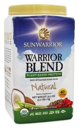 Sunwarrior - Warrior Blend Raw Vegan Protein Natural - 35.2 oz.