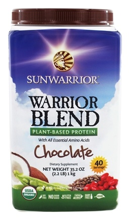Sun Warrior - Warrior Blend Raw Vegan Protein Chocolate - 35.2 oz.