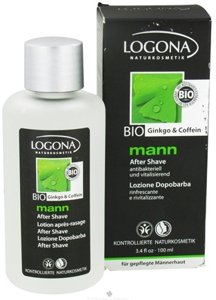 DROPPED: Logona - Mann After Shave Lotion Bio Ginkgo & Caffeine - 3.4 oz. CLEARANCE PRICED