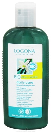 DROPPED: Logona - Daily Care Sensitive Body Lotion Organic Aloe + Vanilla - 6.8 oz.