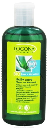 DROPPED: Logona - Daily Care Body Oil Organic Aloe + Verbena - 6.8 oz. CLEARANCE PRICED