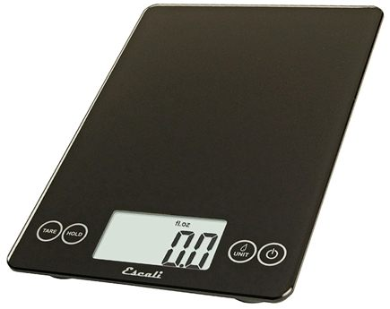 Escali - Arti Glass Digital Food Scale 157IB Ink Black