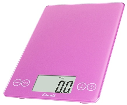 Escali - Arti Glass Digital Food Scale 157PP Poppin' Pink