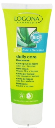 DROPPED: Logona - Daily Care Hand Cream Organic Aloe + Verbena - 3.4 oz. CLEARANCE PRICED