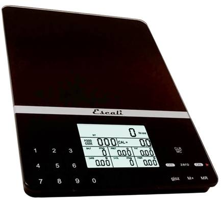 DROPPED: Escali - Cesto Portable Digital Nutritional Scale 115NB Black
