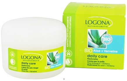 DROPPED: Logona - Daily Care Skin Cream Organic Aloe + Verbena - 3.4 oz.
