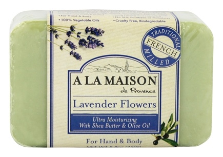 A La Maison - Traditional French Milled Bar Soap Lavender Flowers - 8.8 oz.