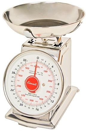 Escali - Mercado Dial Scale With Bowl 2 lb Capacity DS21B