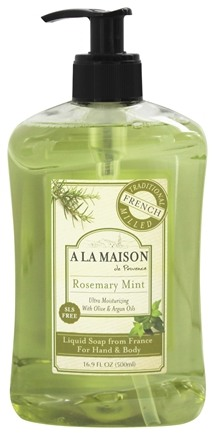 A La Maison - Traditional French Milled Liquid Soap Rosemary Mint - 16.9 oz.
