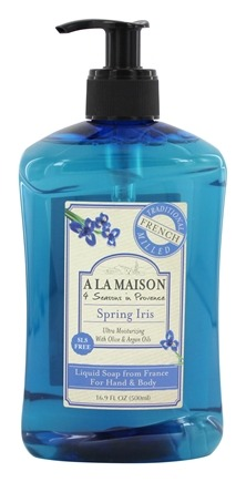 DROPPED: A La Maison - Traditional French Milled Liquid Soap Spirng Iris - 16.9 oz.