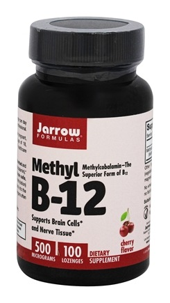 Jarrow Formulas - Methyl B-12 500 mcg. - 100 Lozenges