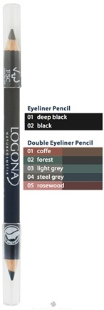 DROPPED: Logona - Double Eyeliner Pencil 04 Steel Grey - 1.38 Grams CLEARANCE PRICED