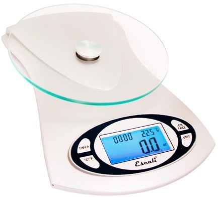 Escali - Vitra Glass Top Digital Food Scale 115G