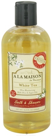 DROPPED: A La Maison - Traditional French Milled Bath & Shower Liquid Soap White Tea - 16.9 oz.