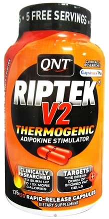 DROPPED: QNT - Riptek V2 Thermogenic Adipokine Stimulator - 120 Capsules CLEARANCE PRICED