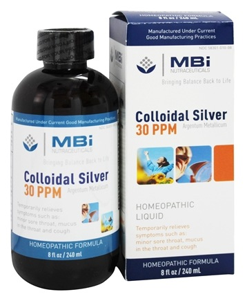MBI Nutraceuticals - Colloidal Silver Homeopathic Immune Defense 30 Ppm - 8 oz.