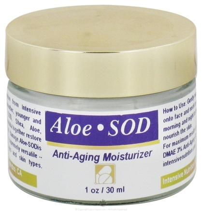 DROPPED: Intensive Nutrition, Inc. - Aloe SOD Superoxide Dismutase Anti Aging Moisturizer - 1 oz.