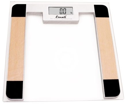 DROPPED: Escali - Precision Body Weight Glass Platform Square Digital Bathroom Scale B180SC Clear
