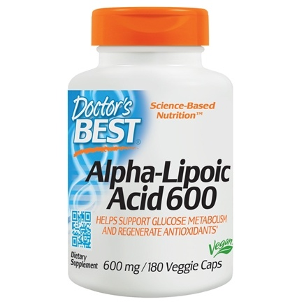 Doctor's Best - Best Alpha Lipoic Acid 600 mg. - 180 Vegetarian Capsules