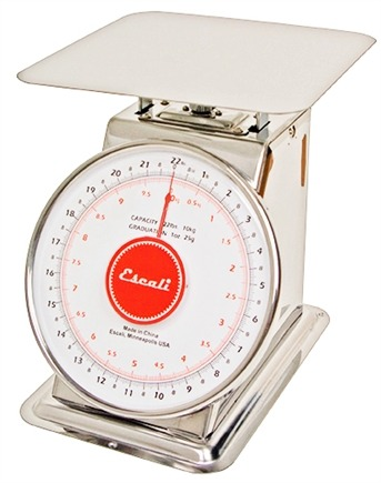 DROPPED: Escali - Mercado Dial Scale With Plate 22 lb Capacity DS2210P