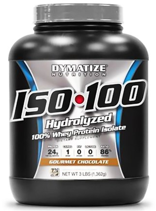 DROPPED: Dymatize Nutrition - ISO 100 100% Hydrolyzed Whey Protein Isolate Gourmet Chocolate - 3 lbs.