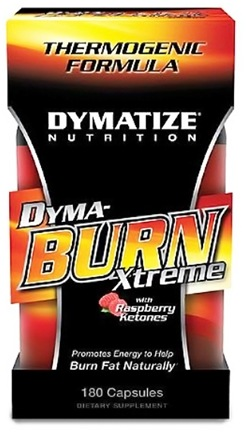 DROPPED: Dymatize Nutrition - Dymaburn Xtreme with Raspberry Ketones - 180 Capsules CLEARANCE PRICED