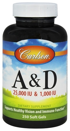 Carlson Labs - Vitamin A & D/25,000 IU & 1,000 IU - 250 Softgels