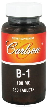 DROPPED: Carlson Labs - Vitamin B-1 100 mg. - 250 Tablets CLEARANCE PRICED