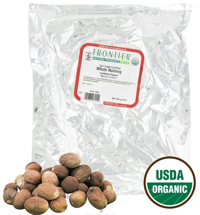 DROPPED: Frontier Natural Products - Nutmeg Whole Organic - 1 lbs. CLEARANCE PRICED