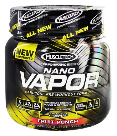 DROPPED: Muscletech Products - Nano Vapor Performance Series Hardcore Pre-Workout Formula Fruit Punch - 1.2 lbs.