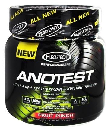 DROPPED: Muscletech Products - AnoTest Performance Series Testosterone Boosting Powder Fruit Punch - 0.6 lbs. CLEARANCE PRICED
