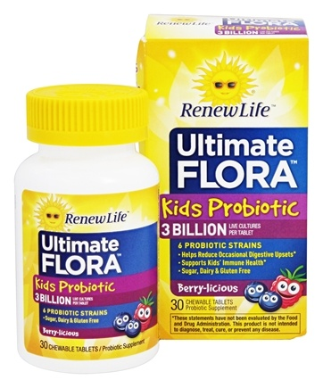 ReNew Life - Ultimate Flora Kids Probiotic - 30 Chewable Tablets