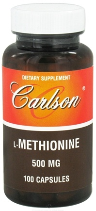 DROPPED: Carlson Labs - L-Methionine 500 mg. - 100 Capsules CLEARANCE PRICED