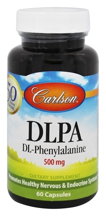 Carlson Labs - DLPA DL-Phenylalanine 500 mg. - 60 Capsules