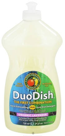 DROPPED: Earth Friendly - DuoDish 100% Natural Dishwashing Liquid Organic Lavender - 25 oz.