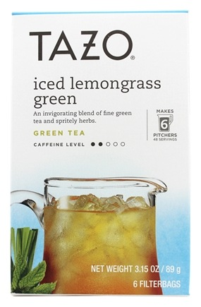 Tazo - Iced Lemongrass Green Tea - 6 Tea Bags