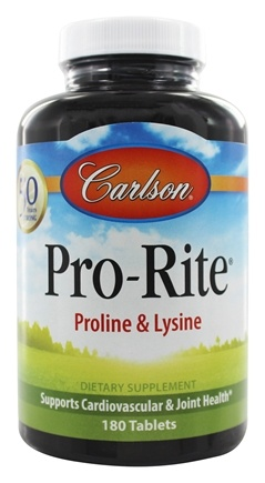 Carlson Labs - Pro-Rite Proline & Lysine - 180 Tablets