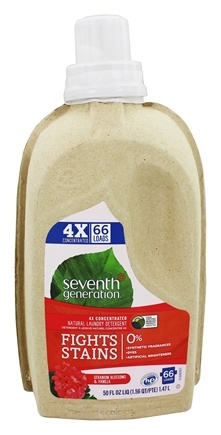 Seventh Generation - Natural 4X Concentrated Liquid Laundry Detergent Geranium Blossoms & Vanilla - 50 oz.