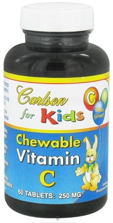 DROPPED: Carlson Labs - Kids Chewable Vitamin C 250 mg. - 60 Chewable Tablets CLEARANCE PRICED